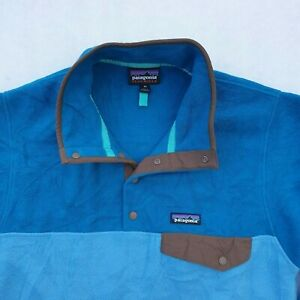 Patagonia Synchilla Snap-T Vintage Two-Tone Blue Pullover Sweater Fleece XS VGC