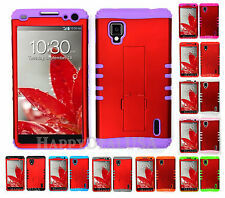 KoolKase Hybrid Silicone Cover Case for Sprint LG Optimus G LS970 - Red (R)
