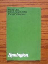 REMINGTON Model 760 Pump Action Rifle Owner's Manual Pamphlet