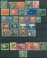 Bund Jahrgang 1957 - Auswahl aus Michel Nr. 249 - 280 , o , gestempelt