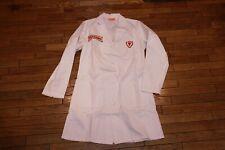 Vintage Firestone Tire Research Laboratory Employee Uniform White Lab Coat