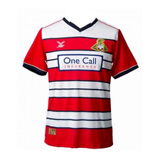 size:3xl DONCASTER ROVERS FOOTBALL SHIRT 2016/17 DRFC Soccer Jersey Red Home