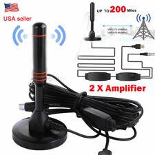 Amplifier Antenna Tv Digital Hd 200 Miles 1080P Indoor Antenna Signal Booster Us