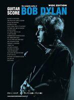 Guitar Score Bob Dylan Complete Works Wide Edition Japan Sheet Music