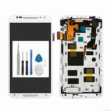 White For Motorola Moto X 2nd Gen XT1097 XT1095 LCD Touch Screen Digitizer Frame