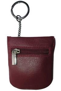 kleine Leder Schlüsselglocke Bordeaux Spangen Schlüsseletui Schlüsseltasche rot