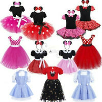 Kids Girls Baby Toddler Princess Outfits Party Costume Tutu Dress + Headband Set