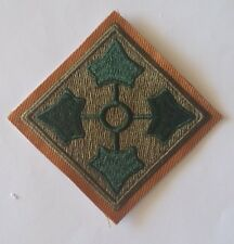 Patch US 4th infantry division Normandie D-Day cut edge WWII - REPRO