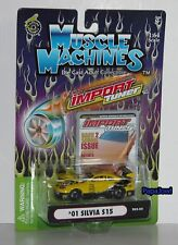 Muscle Machines Import Tuner 2001 Nissan Silvia S15 Drifting Race Show Car 1:64