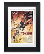 THE GOONIES MOVIE CAST SIGNED POSTER PRINT PHOTO AUTOGRAPH GIFT 1985 FILM