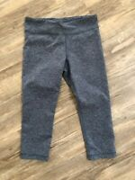 Under Armour Womens Medium Leggings Cropped Capris Blue Gray Athletic Pants EUC
