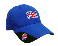 SoftMark Golf Cap - Blue - Union Jack By Asbri Golf with Ball Marker (magnetic)