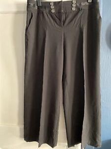 Ladies Black Trousers Size 22 L29