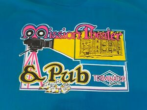 Vintage early 90's McMenamins-Mission Theater & Pub,Men's,X-Large,TEAL  T-Shirt