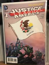 Justice League of America #1 Illinois Variant Cover New 52 DC Comics Near Mint