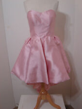 Sherri Hill Pink Strapless Dress Sweetheart Asymmetrical Hem 6