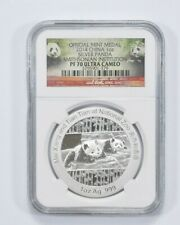 PF70 UCAM 2014 China 1Oz Silver Panda Official Mint Medal Smithsonian - NGC *764