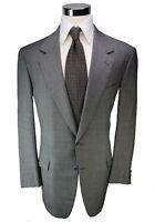 Brioni Elice Model Lght Grey W/ Blue Check 100% Wool 2-Btn Sport Coat Blazer 42R