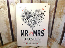 034 PERSONALISED WOODEN PRINT MR AND MRS WALL SIGN PLAQUE