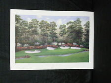 Charles Beck Signed Azalea 13th Hole Augusta Masters Golf L/E Lithograph