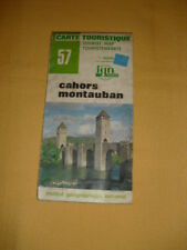 IGN France Carte Touristique N°57 Cahors Montauban 1980