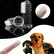 Pet Dog Finger Toothbrush Dental Cleaning Teeth Care Brush Clean Supplies