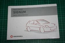 Vauxhall 2003 Signum Owners manual