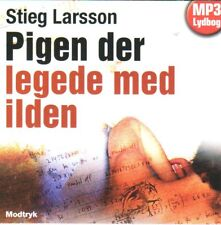 2 MP3 CD HÖRBUCH DÄNISCH Stieg Larsson Millennium Pigen der legede med ilden