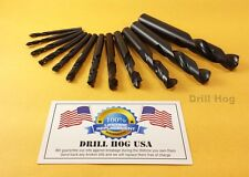 12Pc Stubby Drill Bits Machine Screw Stub Length Bit Lifetime Warranty USA MADE