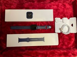 Apple Watch Series 6 40mm Navy Blue Aluminum Case with Blue Sport Band -...