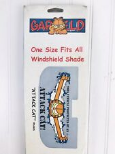 New One Size Fits Garfield Attack Cat Auto Sun Shade Vintage 1998