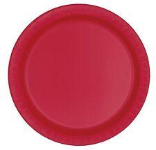 Petites assiettes rouges Décoration de table Fête