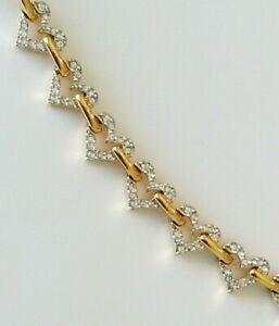 Swarovski Crystal Heart Chain Link Gold Tone Bracelet Valentine