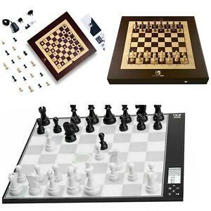 New Digital Electronic Chess Set AI Electric Chessboard Wooden Board Game