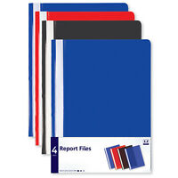 A4 Stationery Report Files Project Folders Pack of 4 Blue Red Black Home Office