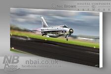 F.6 Lightning 23sqn 'Leuchars Launch' CANVAS PRINT, Digital Artwork.