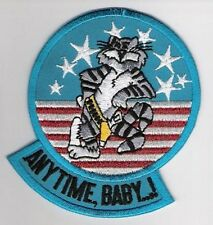 F-14 TOMCAT FIGHTER PATCH COLLECTIONS: ANY TIME BABY - Original from the '90s