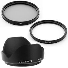 49mm Thumb Drive Lens Hood,CPL,UV Filters for Sony Alpha NEX-5 NEX-3 NEX5 NEX5N