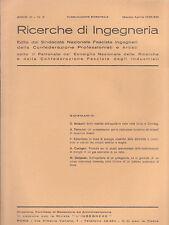 RICERCHE DI INGEGNERIA - anno III - bimestrale n. 2 - marzo/aprile 1935