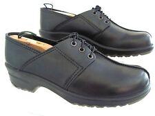 SANITA Professional Black Split Leather Lace Up Oxford Shoe Size 41 A