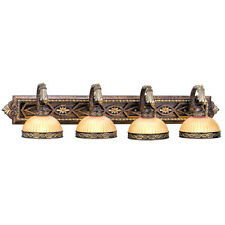 Livex Seville 4 Light Bathroom Vanity Palacial Bronze Wall Fixture Lamp 8534-64
