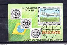 Block 78 Havanna Briefmarkenausstellung BRASILIANA 83 Rio de Janairo