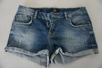 LTB Judie Jeans Comfort Fit Mini Short Very Short Sexy W28 Used Blue Top #E15