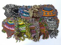 Mohawk Hand Knitted Himalaya Wool Peruvian Ski Beanie Trooper Nepal Hat ASSORTED