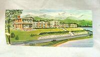 Vintage Postcard Lakeside Motor Inn Lake Placid NY Panoramic Mid Century