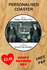 Fathers Day Peaky Blinders Shelby Coaster Gift Dad Mother Mum Nana Birthday