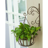 Hanging Plant Bracket Metal Wall Planter Hook Flower Pot Bird Feeder Hanger
