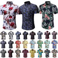 Herren Sommer Hemd Hawaiihemd Kurzarm Hemden Freizeithemden Party Shirt Gr.S-5XL