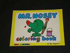 VHTF - Vintage Mr Men Coloring Book - Mr. Nosey  Roger Hargreaves 1980 New Mint!