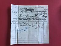James Halliday Ham Butter Egg Fish Merchant 1893 Glasgow  receipt R33528